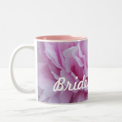 Taza rosada del regalo de la dama de honor de la t
