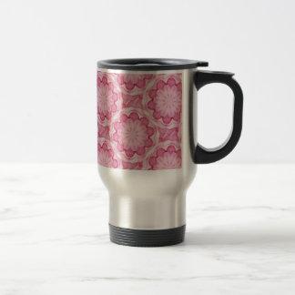 Taza rosada del viaje de las flores del bottlecap