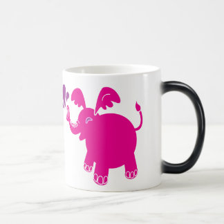 Taza rosada y púrpura del elefante