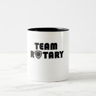 Taza rotatoria del equipo
