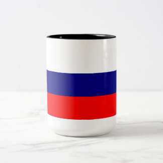 Taza rusa de la bandera