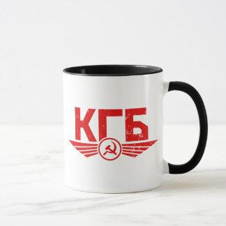 Taza rusa del emblema de KGB