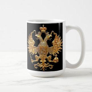 Taza rusa imperial OFICIAL del escudo de la