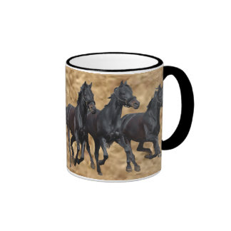 Taza salvaje de los caballos