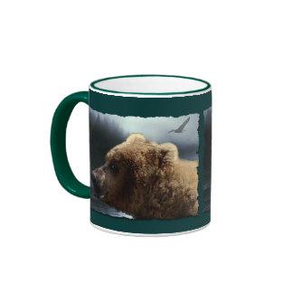 Taza salvaje del arte del Animal-amante del oso gr