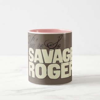 Taza salvaje del logotipo de Rogelio