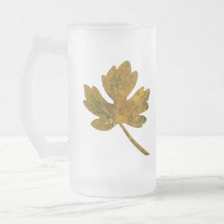 Taza simple del vidrio esmerilado de la hoja