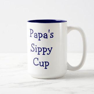 Taza sippy de la taza de la papá