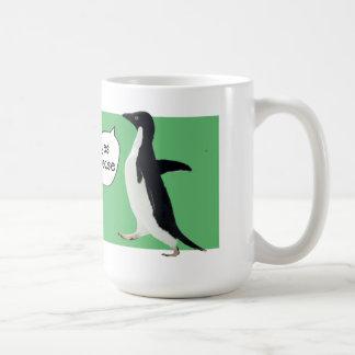 Taza social torpe del pingüino
