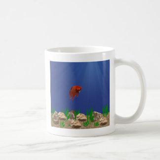 Taza sola de los pescados