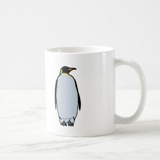Taza solitaria del pingüino