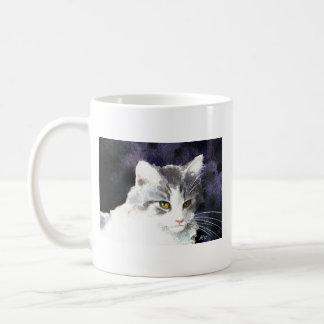 Taza soñolienta del gatito