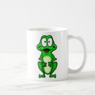Taza sonriente de la rana