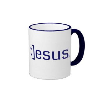 Taza sonriente de la tecnología de Jesús
