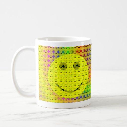 taza sonriente de los smiley de la taza de la cara