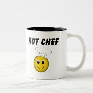 Taza sonriente del cocinero de la cara