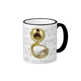 Taza - Sousaphone con partitura