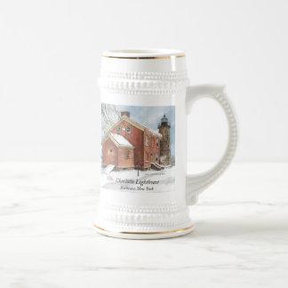 Taza/Stein del faro de Charlotte Jarra De Cerveza