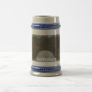 Taza, stein, gettysburg abajo del barril de un jarra de cerveza