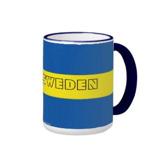 Taza sueca de la bandera de Suecia