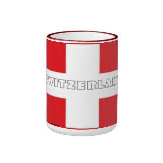 Taza suiza de la bandera de Suiza