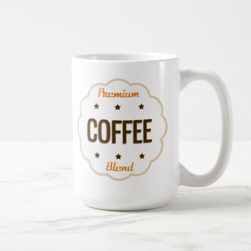 Taza superior de la mezcla del café del vintage