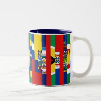 Taza suramericana de las banderas