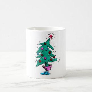 Taza tambaleante del árbol de navidad