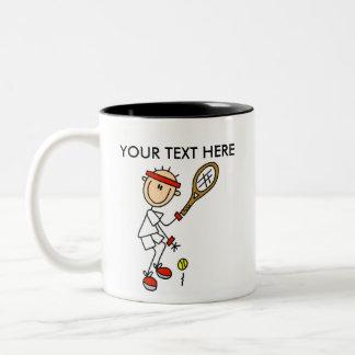Taza/taza del tenis de los hombres del personaliza