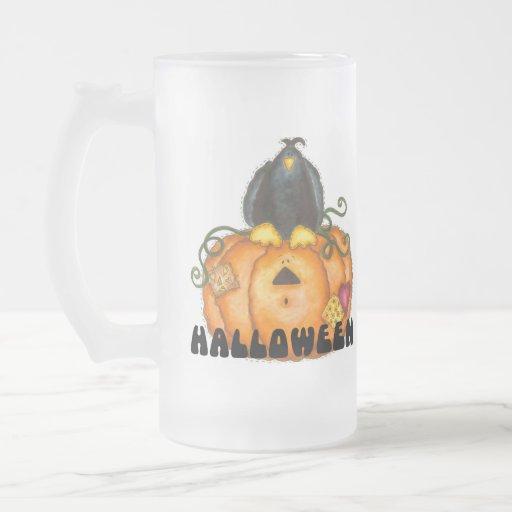Taza/taza heladas calabaza de Halloween