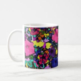 Taza/taza juguetonas del ~ de las flores taza clásica