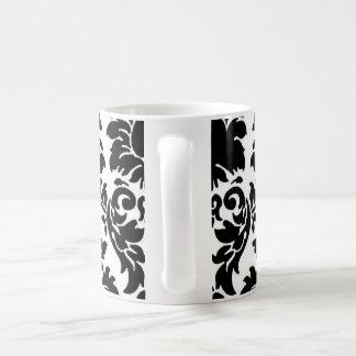 Taza/taza negras del té del café del damasco taza clásica
