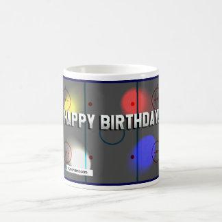 Taza temática del cumpleaños del hockey