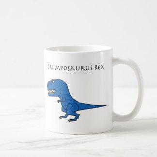 Taza texturizada azul de Grumposaurus Rex