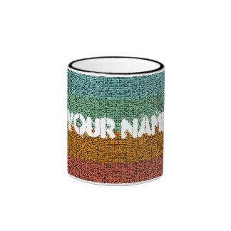 Taza texturizada multicolora del efecto de la lona