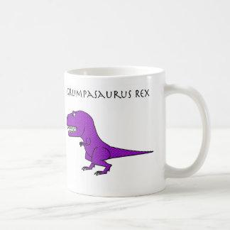 Taza texturizada púrpura de Grumpasaurus Rex