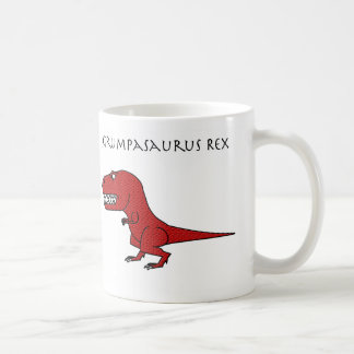 Taza texturizada rojo de Grumpasaurus Rex