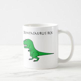 Taza texturizada verde de Grumpasaurus Rex