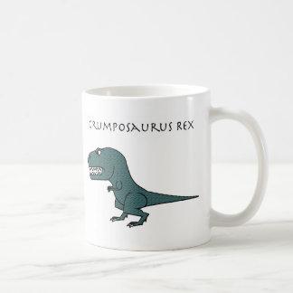 Taza texturizada verde oscuro de Grumposaurus Rex