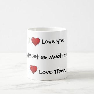 ¡Taza tibetana del amor de la tarjeta del día de S