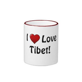 Taza tibetana del amor de la vida
