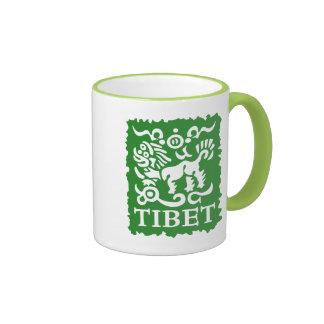 Taza tibetana del té y de café del león de la niev