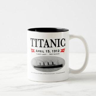 Taza titánica del Dos-Tono de la nave del fantasma