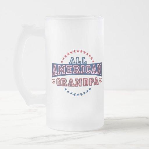 Taza Todo-Americana del vidrio del abuelo