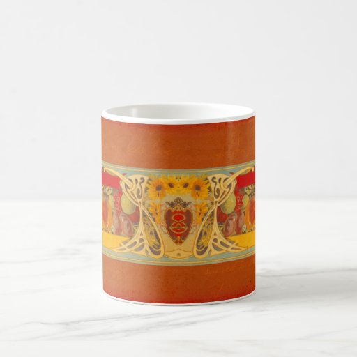 Taza toscana personalizada del diseño del girasol