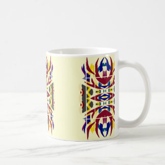 Taza tribal moderna del diseño del arte abstracto