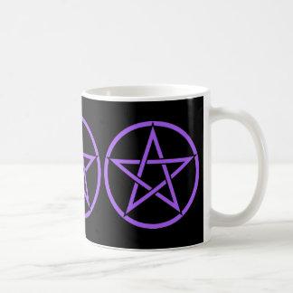 Taza triple del Pentagram del pentáculo de la bruj