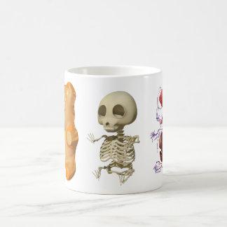 Taza tríptica de la anatomía del oso de Gummi