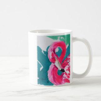 Taza tropical de la impresión del arte del pájaro