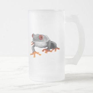 ¡Taza tropical de la rana.! Taza De Cristal